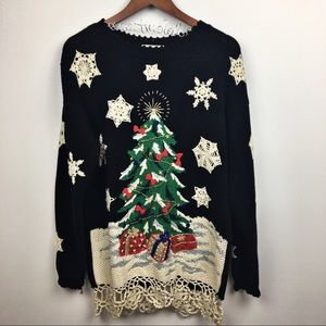 Sweaters - vintage oversized pullover christmas sweater tunic